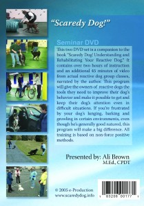 Scaredy Dog Seminar DVD back cover image